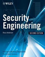Security Engineering PDF