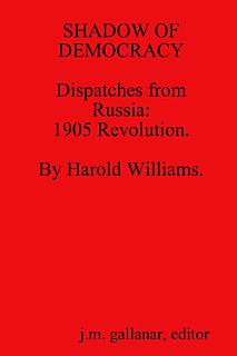 SHADOW OF DEMOCRACY  Dispatches from Russia 1905 Revolution  by Harold Williams  Book