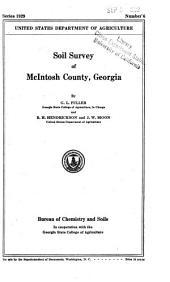 Soil Survey of McIntosh County, Georgia