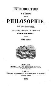 Introduction à l'étude de la philosophie: Volume 2