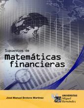 Supuestos de Matemáticas Financieras