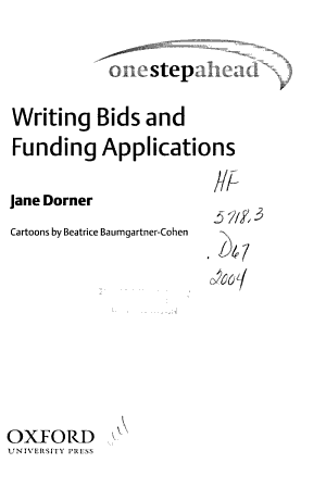 Writing Bids and Funding Applications