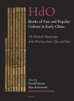 Books of Fate and Popular Culture in Early China PDF