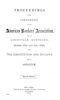 Proceedings of the     Annual Convention of the American Bankers  Association PDF