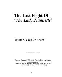 The Last Flight of the Lady Jeannette