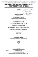 H R  4441  the Motor Carrier Fuel Cost Equity Act of 2000 PDF