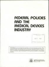 Federal Policies and the Medical Devices Industry PDF