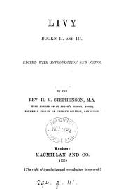 Livy, books ii and iii, ed. by H.M. Stephenson