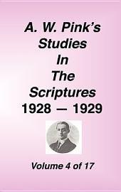 A W Pink's Studies in the Scriptures, 1928-29