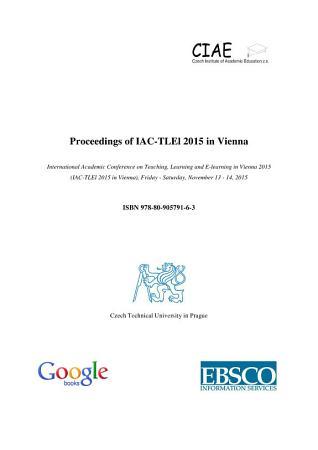 Proceedings of IAC TLEl 2015 in Vienna PDF