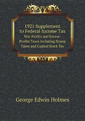 1921 Supplement to Federal Income Tax