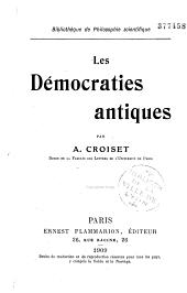 Les démocraties antiques
