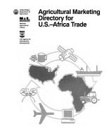 Agricultural Marketing Directory for U S    Africa Trade PDF