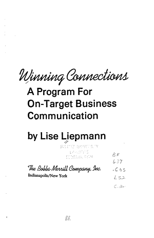 Winning Connections PDF