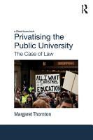 Privatising the Public University PDF