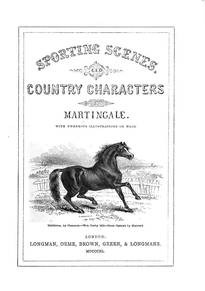 Sporting Scenes and Country Characters