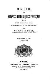 Recueil de chants historiques francaise: XVIe siècle
