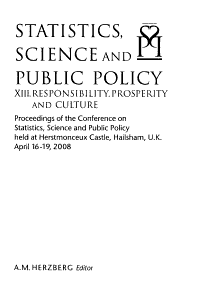 Statistics  Science and Public Policy XIII PDF