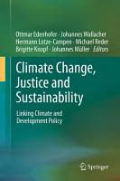 Climate Change  Justice and Sustainability PDF