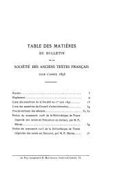 Bulletin de la Société des anciens textes français: Volumes19à23