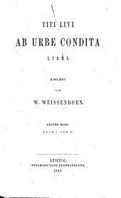 Ab urbe condita: Buch I und II, Volume 1