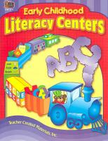 Early Childhood Literacy Centers PDF