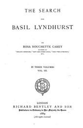 The Search for Basil Lyndhurst: Volume 3