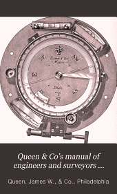 Queen & Co's Manual of Engineers and Surveyors Instruments: Construction, Manipulation, Care, Theory and Adjustments