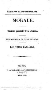 Religion Saint-Simonienne enseignement central: extrait de l'Organisateur