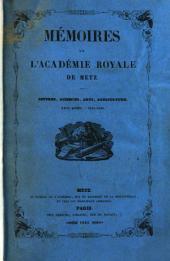 Mémoires de l'Académie royale de Metz: Volumes26à27