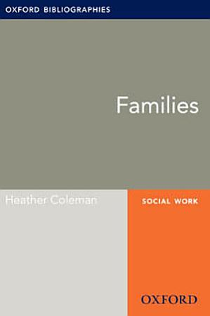 Families  Oxford Bibliographies Online Research Guide PDF