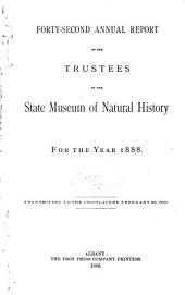 Annual Report of the Trustees of the State Museum of Natural History for the Year ...: Volume 42