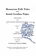Humorous Folk Tales of the South Carolina Negro