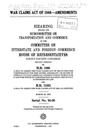 War Claims Act of 1948  Amendments PDF