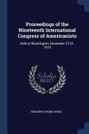 Proceedings of the Nineteenth International Congress of Americanists