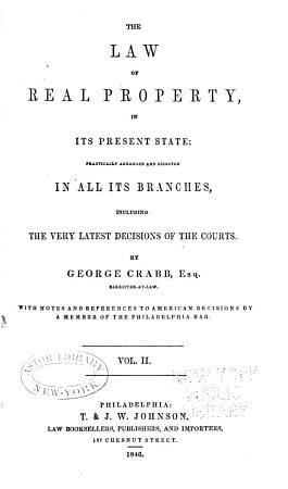 The Law of Real Property  in Its Present State PDF