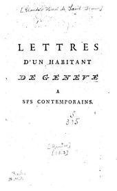 Lettres d'un habitant de Genève à ses contemporains