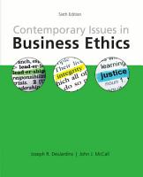 Contemporary Issues in Business Ethics PDF