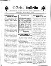 Official U. S. Bulletin: Pub. Daily Under Order of the President of the United States by Committee on Public Information ..., Volume 1, Part 1