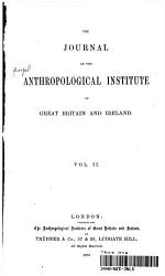 THE JOURNAL OF THE ANTHROPOLOGICAL INSTITUTE OF GREAT BRITAIN AND IRELAND PDF