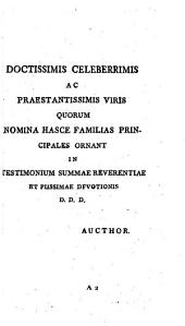 Genera Plantarum Methodo Naturali Disposita