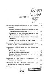 Works of Henry, Lord Brougham ...: Rhetorical and literary dissertations and addresses. 1856