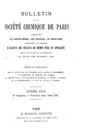 Bulletin de la Société chimique de Paris: Volume21