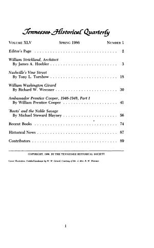 Tennessee Historical Quarterly PDF