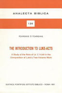 The Introduction to Luke-Acts