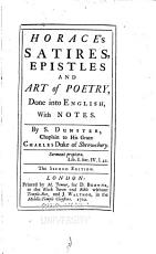 Horace s Satires  Epistles and Art of Poetry PDF