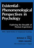 Existential Phenomenological Perspectives in Psychology PDF