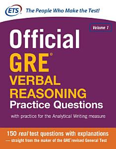 Official GRE Verbal Reasoning Practice Questions Book