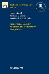 Proportional Liability: Analytical and Comparative Perspectives