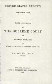 United States Reports: Cases Adjudged in the Supreme Court, Volume 108